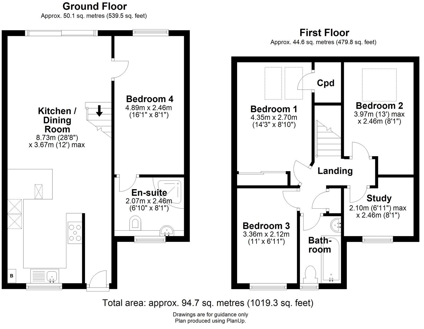 Floor plan Buchan Street, Cambridge